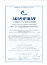 Certificate of safety<br>Double-phase-hu-grade proteine (wild strawberry) Siberian Super Natural Sport. Double-phase hi-grade protein (strawberry)