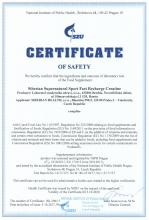 Certificate of safety<br>Fast Recharge Creatine Siberian Super Natural Sport. Fast Recharge Creatine