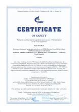 Certificate of safety<br>Pulse Box Complément alimentaire PULSE Box, 90 gélules