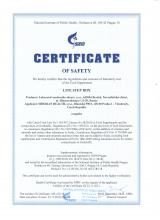 Certificate of safety<br>Lite Step Box LITE STEP Box